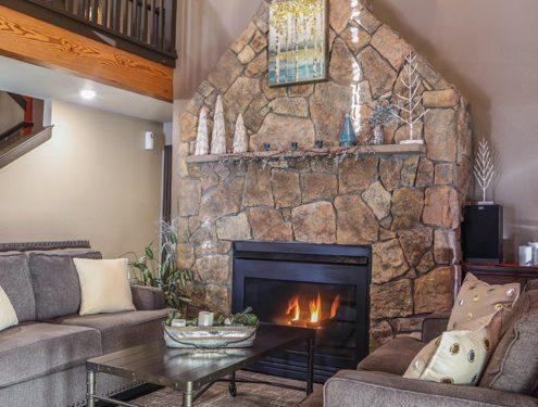 Fireplace at BI