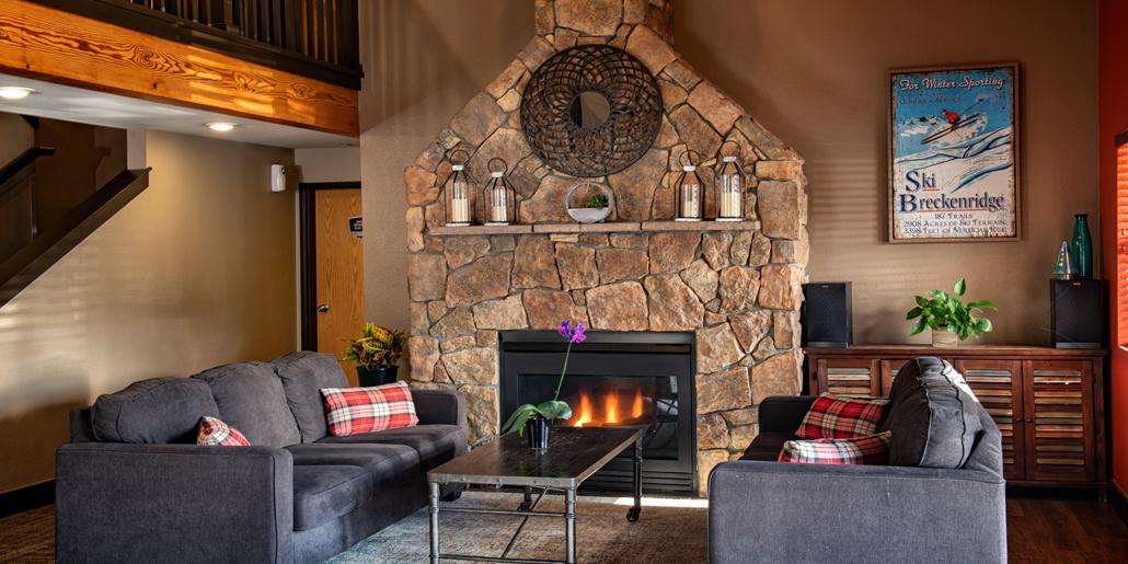 Breck Inn Fireplace